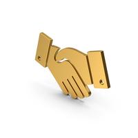 Symbol Handshake Gold PNG & PSD Images