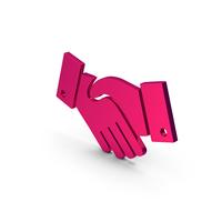 Symbol Handshake Metallic PNG & PSD Images