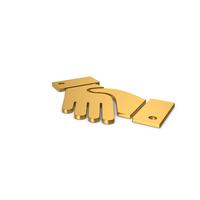 Gold Symbol Handshake PNG & PSD Images