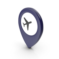 Location Sign Airport Dark Blue PNG & PSD Images