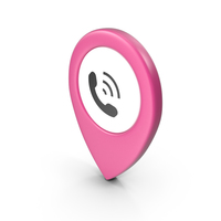 Location Sign Phone Pink PNG & PSD Images