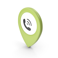 Location Sign Phone Green PNG & PSD Images