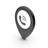 Location Sign Phone Black PNG & PSD Images