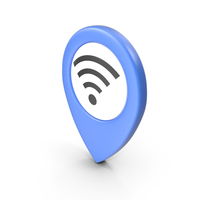 Location Sign Wifi Blue PNG & PSD Images