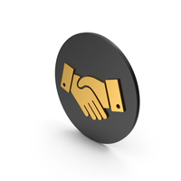 Handshake Gold Icon PNG & PSD Images