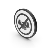 Icon No Handshake Black PNG & PSD Images