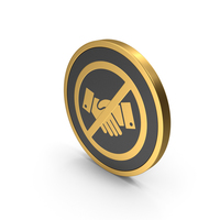 Gold Icon No Handshake PNG & PSD Images