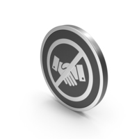 Silver Icon No Handshake PNG & PSD Images
