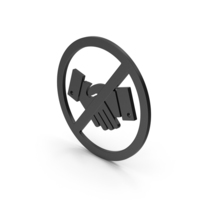 Symbol No Handshake Black PNG & PSD Images