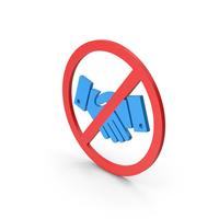 Symbol No Handshake Blue PNG & PSD Images