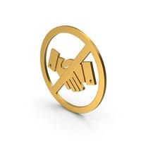 Symbol No Handshake Gold PNG & PSD Images