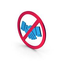 Symbol No Handshake Metallic PNG & PSD Images