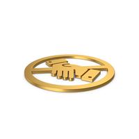 Gold Symbol No Handshake PNG & PSD Images