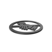 Black Symbol No Handshake PNG & PSD Images