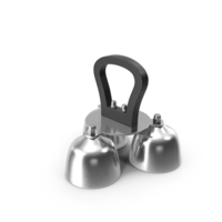 Silver Liturgical Altar Bell 3 Tones PNG & PSD Images