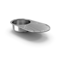 Single Bowl Inset Sink with Drainboard PNG & PSD Images