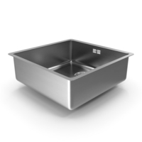 Single Bowl Square Stainless Steel Inset Sink PNG & PSD Images