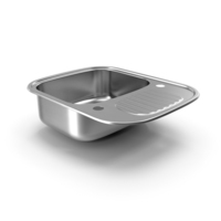 Single Bowl Stainless Steel Reversible Inset Sink PNG & PSD Images