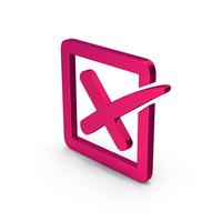 Symbol X Mark Box Metallic PNG & PSD Images