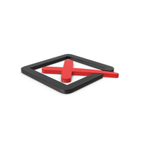 Red Symbol X Mark Box PNG & PSD Images