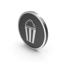 Silver Icon Popcorn PNG & PSD Images