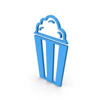 Symbol Popcorn Blue PNG & PSD Images