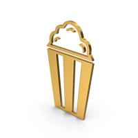 Symbol Popcorn Gold PNG & PSD Images