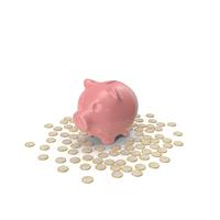 Piggy Bank and Euros PNG & PSD Images