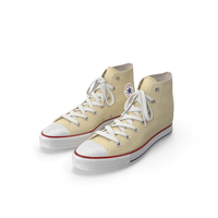 Basketball Shoes Light Yellow PNG & PSD Images