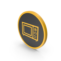 Icon Microwave Oven Yellow PNG & PSD Images