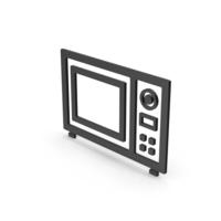 Symbol Microwave Oven Black PNG & PSD Images