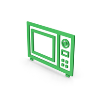 Symbol Microwave Oven Green PNG & PSD Images