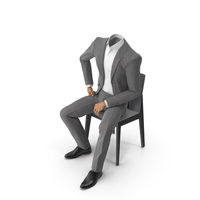 Chair Discussion Suit Grey PNG & PSD Images