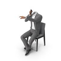 Talking About Someone Suit Grey PNG & PSD Images
