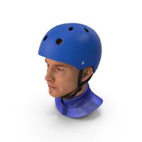 Skate Helmet on Head PNG & PSD Images