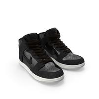 Skateboard Shoe Nike SB Dunk High Pro Black PNG & PSD Images