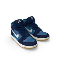 Skateboarding Shoe Nike SB Dunk High Pro Blue PNG & PSD Images
