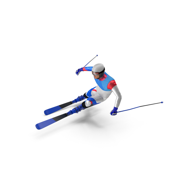 Skier Fast Turn Pose Generic PNG & PSD Images