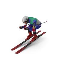 Skier Slide Down Pose PNG & PSD Images