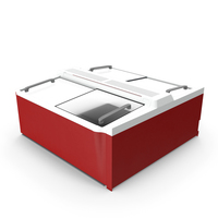 Sliding Glass Top Display Chest Freezer PNG & PSD Images