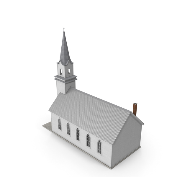 Small White Wooden Church PNG & PSD Images