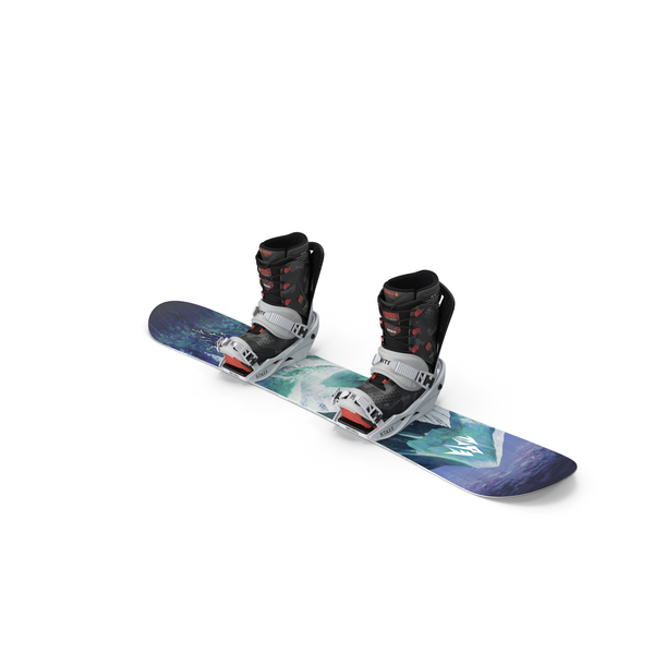 Snowboard Jones with Bindings and Boots PNG & PSD Images