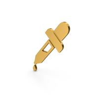 Symbol Eyedropper Gold PNG & PSD Images