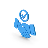 Symbol Handshake With Checkmark Blue PNG & PSD Images