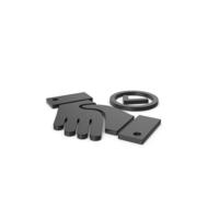 Black Symbol Handshake With Checkmark PNG & PSD Images