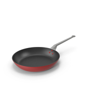 Alessi Frying Pan Red PNG & PSD Images