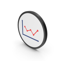Icon Graph Red PNG & PSD Images