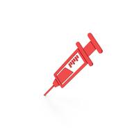 Symbol Syringe Red PNG & PSD Images