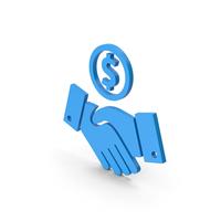 Symbol Deal Blue PNG & PSD Images