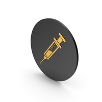 Syringe Gold Icon PNG & PSD Images